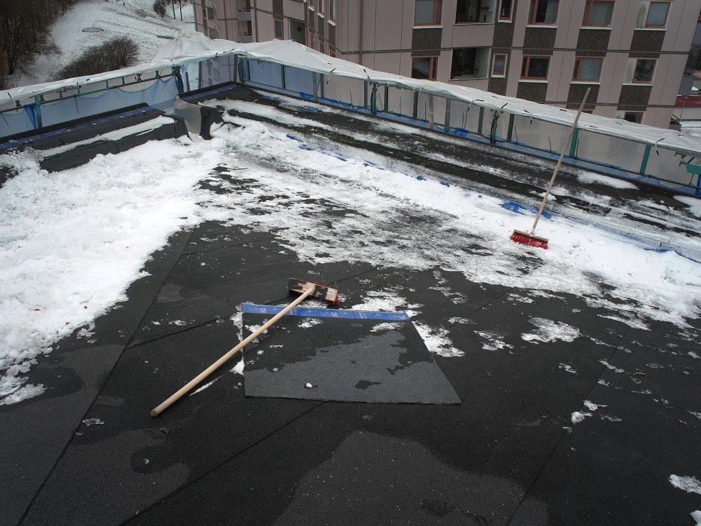 uppe på taket