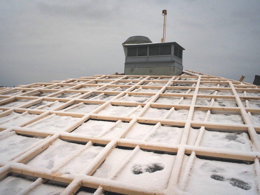 Arbetet på taket